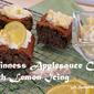 Guinness Applesauce Cake with Lemon Icing