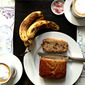School project and banana bread