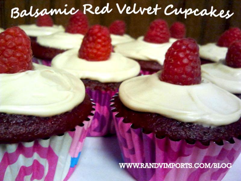 Balsamic Red Velvet Cupcakes