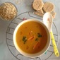 Carrot Soup with oats.