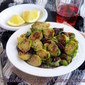 Brussels sprouts with kidney beans