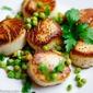 Pan Seared Scallops with Lemon Herb Peas