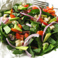 Super Spinach Salad with Warm Maple Dijon Dressing