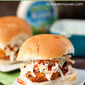Buffalo Chicken Burgers with Ranch Slaw
