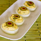 Recipe for Deviled Eggs with Green Olives, Capers, and Dijon