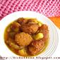 Mushur daler borar jhol / Fried lentil balls in a light gravy