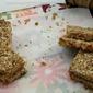 Vegan Quinoa-Flax-Hemp Granola Bars w/ Walnuts & Apricots