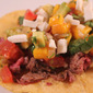 Skirt Steak Tacos With Mango Guacamole