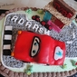 Black forest Mcqueen race car cake