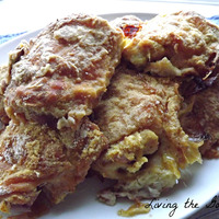 Oven Fried Chicken Thighs with Flour and Cornmeal
