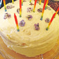 Lemony Violet Birthday Cake