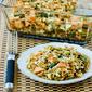 Whole Wheat Orzo Casserole Recipe with Salmon, Asparagus, and Feta