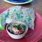 Arugula and Goat Cheese Quesadillas with Strawberry Mango Salsa