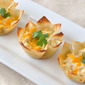 Jalapeno Cheddar Chicken Wonton Cups