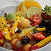 Tropical Fruit Salad with Citrus Almond Sauce