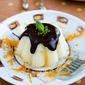 Orange Semolina Pudding with Chocolate
