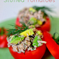Tuna and Avocado Stuffed Tomatoes