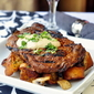Dry Rubbed Spiced Steak with Smoked Paprika Aioli and Garlic Mushroom Country Croutons