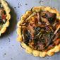 Ramp and Maitake Mushroom Tartelettes (gluten free)
