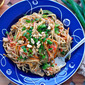 Thai Peanut Sauce Noodles with Veggies and Chicken