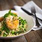 Spring Risotto with Lemon Garlic Shrimp