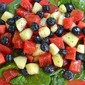 Poppy Seed Dressing Over Fresh Fruit & Spinach