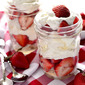 Strawberry Angel Food Cake Jars