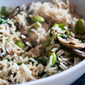 Stir-Fried Brown Basmati Rice with Soya Beans and Mushrooms