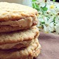 Oatmeal Peanut Butter Sandwich Cookies with Peanut Butter Filling (Better than the Girl Scout Verison)