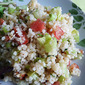 Raw Rhubarb and Rosemary Tabbouleh for the Aero Perfect Pairing Challenge