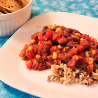 Vegetarian Bean Stew with Brown Rice