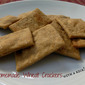 Homemade Wheat Crackers -- with a kick!