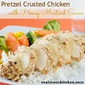 Pretzel Crusted Chicken with Honey Mustard Sauce