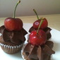 chocolate, zucchini cupcakes