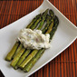 Braised Asparagus with Bacon and Goat Cheese; puppies – 2 years later