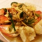 Stirfried Crab with Ginger and Green Onion