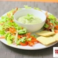 Avocado Mint Dip With Fresh Salad