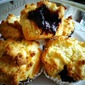Hazelnut plum muffins