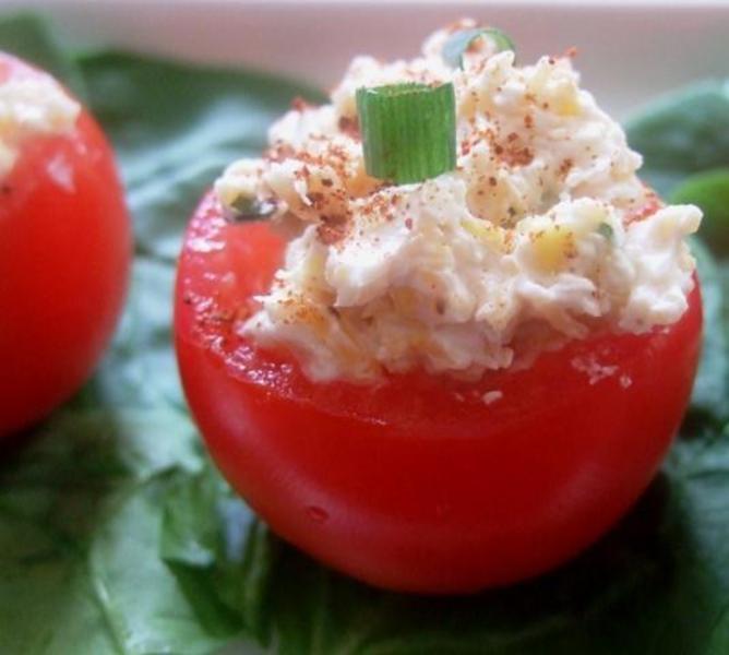 Snappy Stuffed Tomatillos