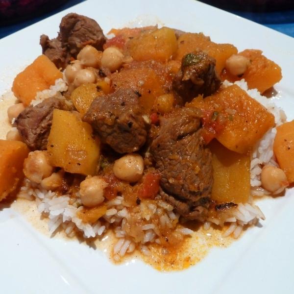 Amazing Lamb, Squash and Chickpea Stew