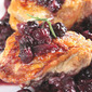 Roast chicken thighs with blueberries and rosemary