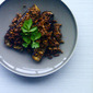 Yotam Ottolenghi's Stuffed Aubergine with Lamb & Pine Nuts
