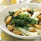 Stir Fry Bok Choy with Deep Fried Tofu
