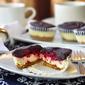 Raspberry Tuxedo Mini Cheesecakes