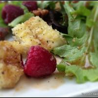 Fried Brie and Raspberry Salad with Honey-Balsamic Vinaigrette.....#thesaladbar