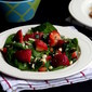 Baby Spinach and Strawberry Salad in Vinaigrette