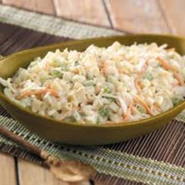 Macaroni and slaw salad