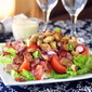 BLT Salad with Creamy Dijon Dressing and Garlic Herb Butter Croutons
