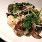 Cheesy Gnocchi with Mushrooms and Baby Arugula