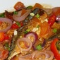 Sarsiadong Galunggong (Fried Mackerel with Tomatoes and Egg sauce)